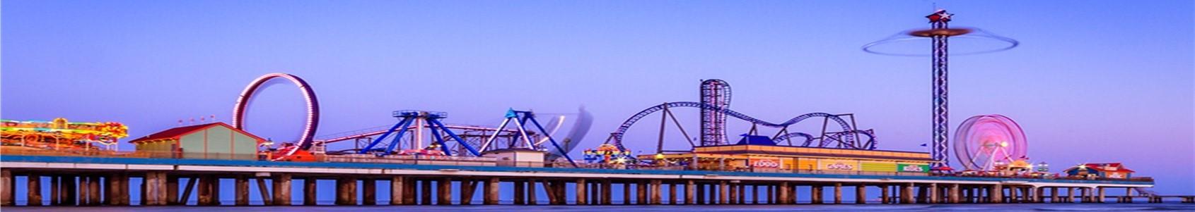 Galveston Island Pleasure Pier—Galveston, Texas